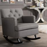 Baxton Studio Bethany Contemporary Gray Fabric Upholstered Rocking Chair