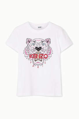 Kenzo Printed Cotton-jersey T-shirt - White