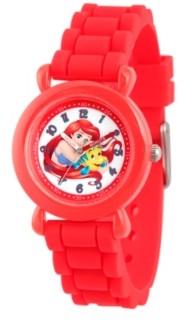 EWatchFactory Disney Princess Ariel Girls' Red Plastic Time Teacher Watch