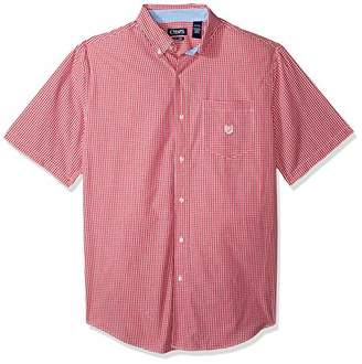 Chaps Men's Big and Tall Short Sleeve Easy Care Button Down Shirt