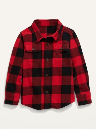 Old Navy Plaid Flannel Pocket Shirt for Toddler Boys