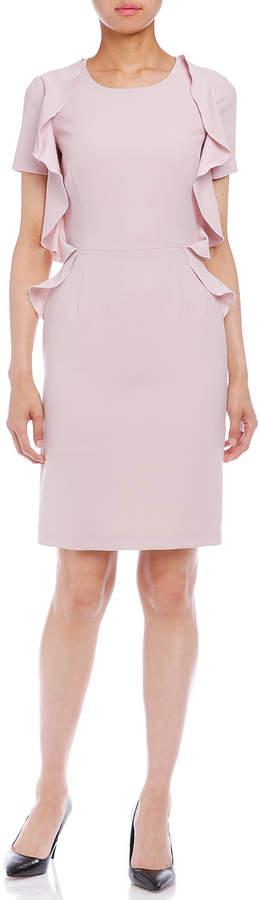 Blugirl (ブルーガール) - Blugirl ラッフル 半袖ドレス ピンク 40