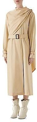 Gucci Women's Wool Drape Front Trench Coat