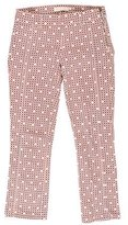 Tory Burch Printed Cropped Jeans