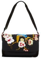 Elizabeth and James Willa Embroidered Shoulder Bag, Black