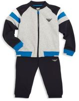 Armani Junior Baby's Two-Piece Raglan Top & Track Pants Set