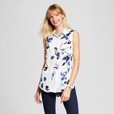 Merona Women's Printed Button Front Blouse
