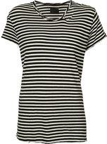 RtA striped distressed trim T-shirt