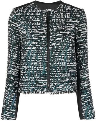 Karl Lagerfeld Paris Two-Tone Tweed Jacket