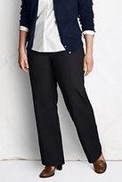 Classic Women's Plus Size Pre-hemmed Fit 3 7-Day Trousers-Black
