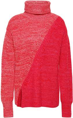 Derek Lam 10 Crosby Paneled Merino Wool Turtleneck Sweater
