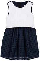 Milly Minis Ari Colorblock Basket Weave Dress (Toddler & Little Girls)