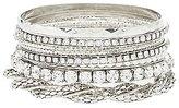Charlotte Russe Etched & Embellished Bangle Bracelets - 9 Pack