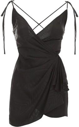ATTICO Wrap Shoulder Strap Mini Dress
