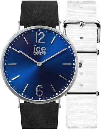 Ice Watch Ice-Watch - CITY Norwich - Women's wristwatch with leather strap + extra nylon strap - 001387 (Small)
