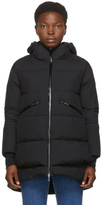 Herno Black Down Gore-Tex Hooded Windstopper Coat