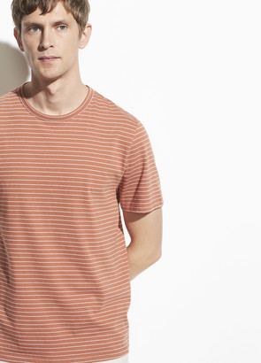 Vince Garment Dye Stripe Short Sleeve Crew