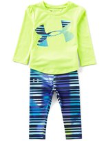 Under Armour Baby Girls 12-24 Months Long-Sleeve Logo Tee & Printed Leggings Set
