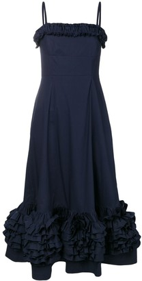 Molly Goddard navy Susie dress