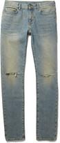 Saint Laurent - Skinny-fit 15cm Hem Distressed Stretch-denim Jeans