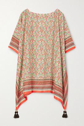 Tory Burch Printed Cotton And Silk-blend Kaftan