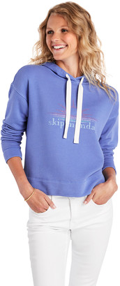 Vineyard Vines Sunburst Graphic Cropped Hoodie