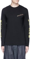 McQ 'Swallow' slogan print long sleeve T-shirt