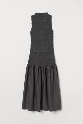H&M Long silk-blend dress