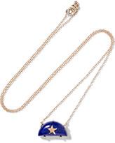 Andrea Fohrman Rainbow 14-karat Gold Lapis Lazuli Necklace
