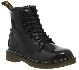 Dr. Martens Lace Boot Inside Zip Delaney (jnr) Black Patent
