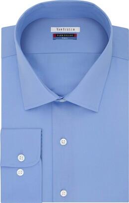 Van Heusen Men's FIT Dress Shirts Flex Collar Solid (Big and Tall)