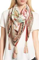 Johnny Was Liya Tassel Silk Scarf