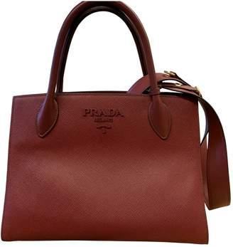 Prada Monochrome Burgundy Leather Handbags