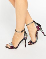 Dune Malla Floral Barely There Heeled Sandals