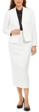 Le Suit Column Skirt Suit
