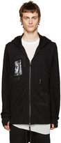 11 By Boris Bidjan Saberi Black T Pattern Zip Hoodie