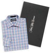 Saks Fifth Avenue Boxed Plaid Cotton Slim-Fit Shirt