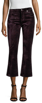 7 For All Mankind Velvet Cropped Boot Cut Jean