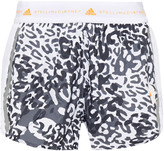 Thumbnail for your product : adidas by Stella McCartney Mesh-paneled Leopard-print Shell Shorts