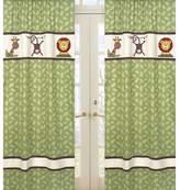 JoJo Designs Jo Jo Designs Sweet Jungle Time Window Panels - Leaf
