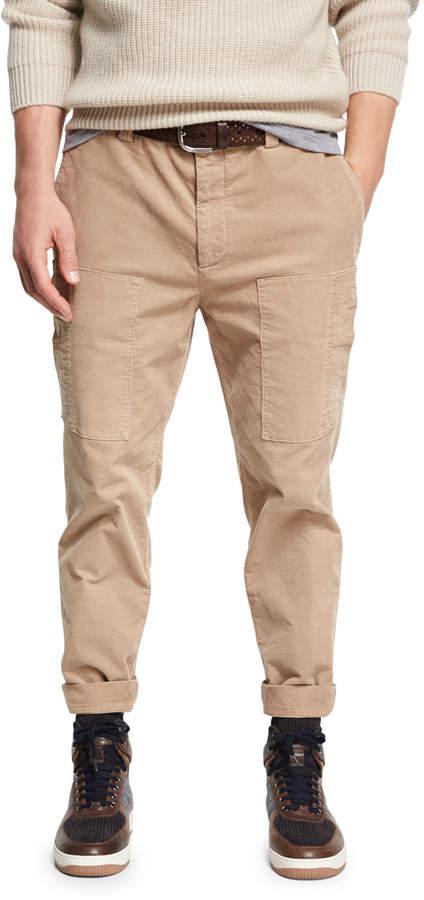 Brunello Cucinelli Corduroy Cargo Pants
