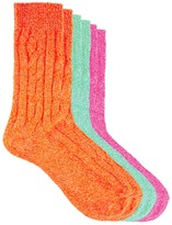 Asos 3 Pack Cable Knit Boot Sock