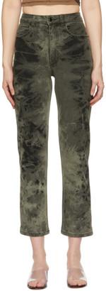 Eckhaus Latta Black and Green EL Jeans