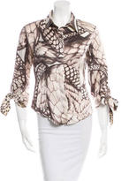 Just Cavalli Collared Button-Up Top