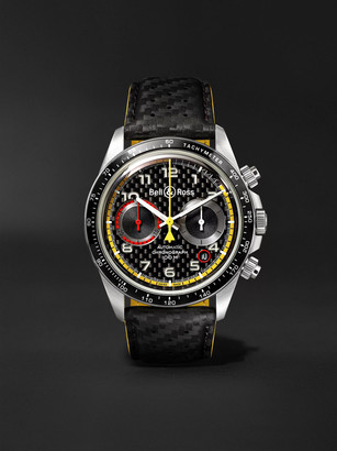 Bell & Ross Br V2-94 R.s.18 Renault Limited Edition Automatic Chronograph 41mm Stainless Steel And Leather Watch, Ref. No.
