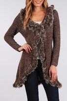People Outfitter Open Fur Cardigan