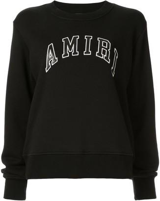 Amiri College crew neck sweatshirt