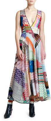 Missoni Sleeveless V-Neck Patchwork Dress
