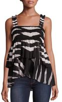 Tory Burch Lucea Tiered Smocked Tank Top