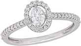 Affinity Diamond Jewelry Affinity 4/10 cttw Oval Diamond Engagement Ring, 14K